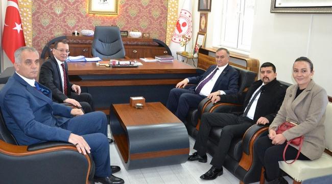 Erkan Akçay, Kaymakam Yılmaz'ı Ziyaret Etti