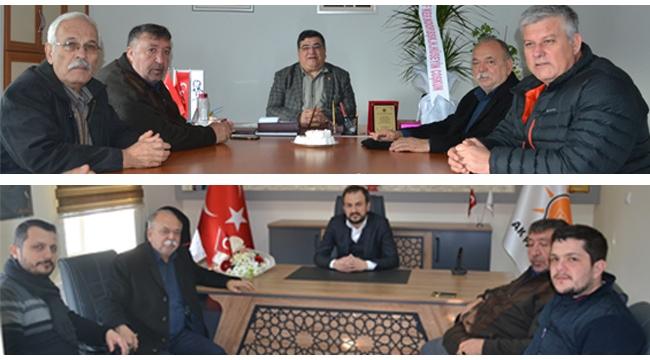 Esnaf ve Sanatkarlar Kooperatifi'nden AK Parti ve CHP'ye Ziyaret