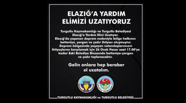 Kaymakamlık ve Belediyeden Elazığ'a Yardım Eli