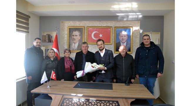 Makedonya Göçmenleri, AK Parti İlçe Başkanını Ziyaret Etti