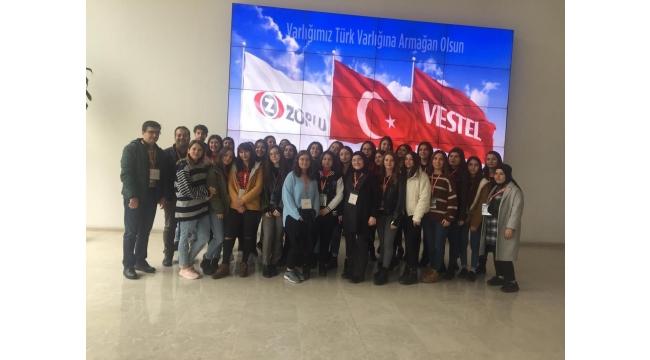 Zübeyde Hanım Kız Meslek Lisesi'nden Vestel'e Ziyaret