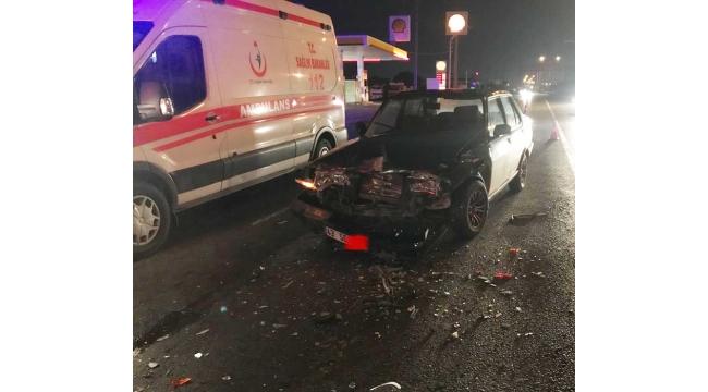 3 araç kazaya karıştı: 3 yaralı