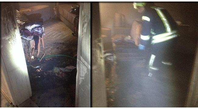 Avşar'da ev yangını itfaiye ekiplerince söndürüldü