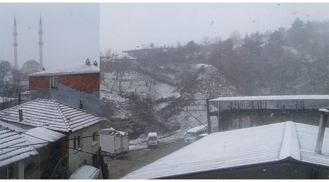 Hacıisalar'da kar yağışı başladı - VİDEO