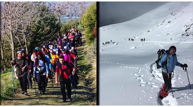 Olympos dağcıları Belevi - Şirince parkurunu yürüdü
