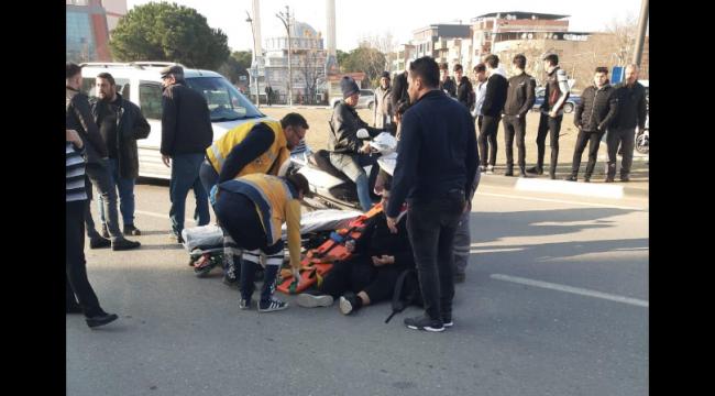 Otomobil çarpıp kaçtı, yaya yaralandı