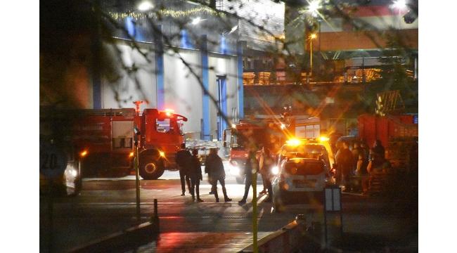 Fabrika yangını hasara neden oldu