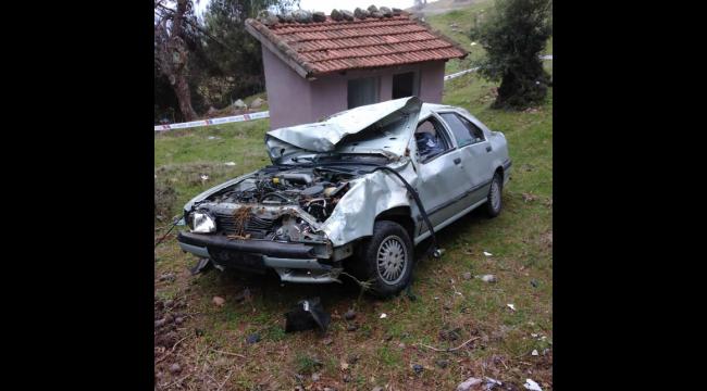 Otomobil şarampole devrildi: 1 ölü, 2 ağır yaralı
