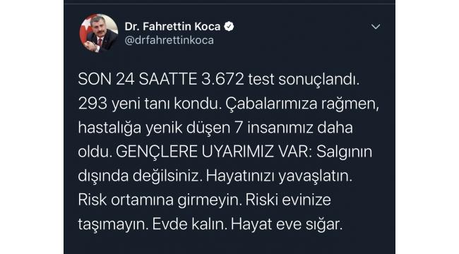 Türkiye'de koronavirüsten can kaybı 37'ye yükseldi!