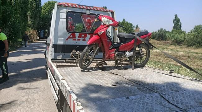 Kendi kaçtı çalıntı motosiklet yakalandı