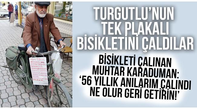 Emekli muhtarın 56 yıllık bisikletini çaldılar