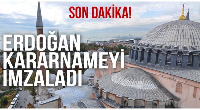 Erdoğan Ayasofya Kararını Verdi