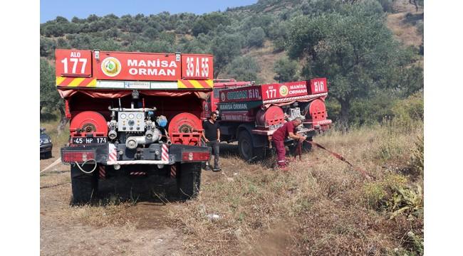 Manisa'da Spil Dağı eteklerinde çıkan orman yangını kontrol altına alındı