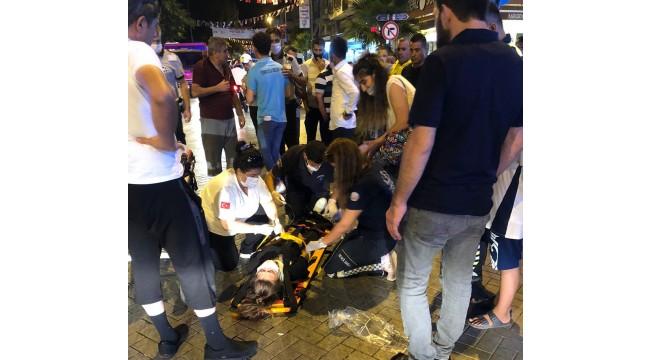 Otomobilin çarptığı genç kız yaralandı