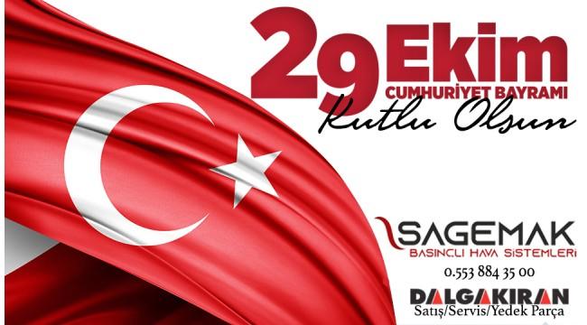 Sagemak A.Ş Cumhuriyet Bayramını kutladı