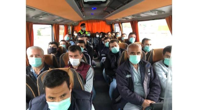 Toplu taşıma araçlarında Kovid-19 denetimi yapıldı