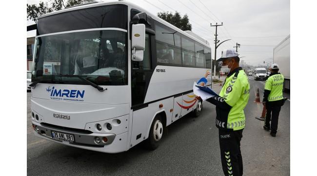 Turgutlu'da toplu taşıma araçlarında koronavirüs denetimi yapıldı