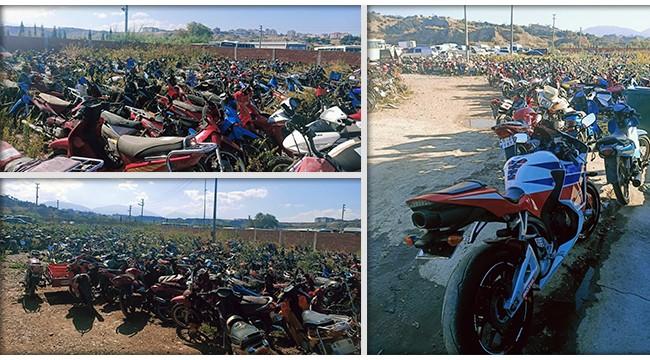 Yediemin otoparkı motosiklet mezarlığına döndü