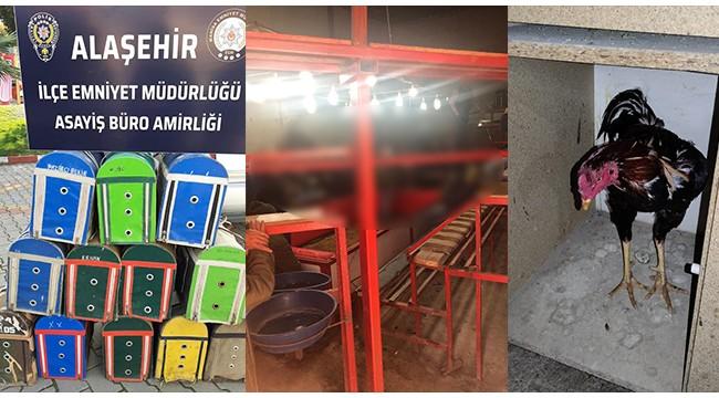 Tribün ve ring kurulan salonda horoz dövüştüren 34 kişiye para cezası