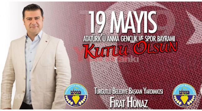 Turgutlu Belediye Başkan Yardımcısı Honaz'dan kutlama