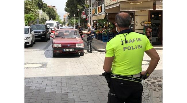 Turgutlu polisinden sıkı 'tam kapanma' denetimi