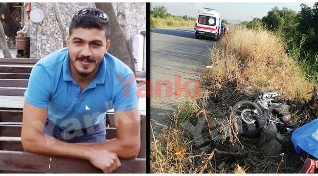 Motosikletiyle yol kenarına savrulan genç yaşamını yitirdi