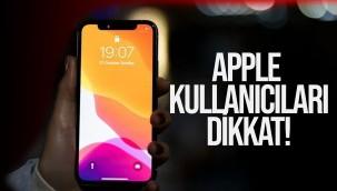 Apple Kullancıları Dikkat!
