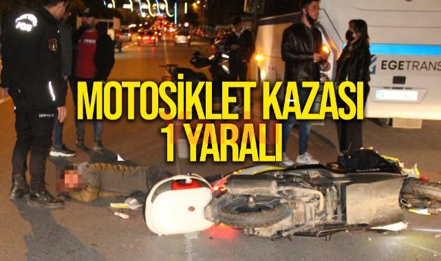Manisa'da otomobilin çarptığı motosikletin sürücüsü yaralandı