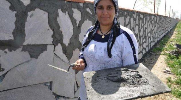 6 çocuk annesi, 18 yıldır inşaatlarda çalışıyor