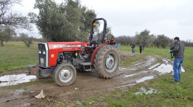 Çalınan traktör bulundu